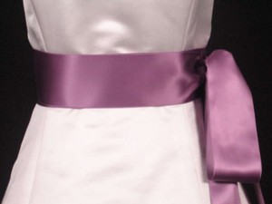 Amethyst Purple Ribbon Sash 2 3/4