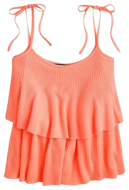 Item - Coral Tiered Tie Shoulder In Merino Wool Tank Top/Cami Size 4 (S)