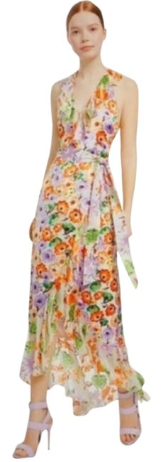 Item - White Cream Multicolored Floral Long Casual Maxi Dress Size 6 (S)
