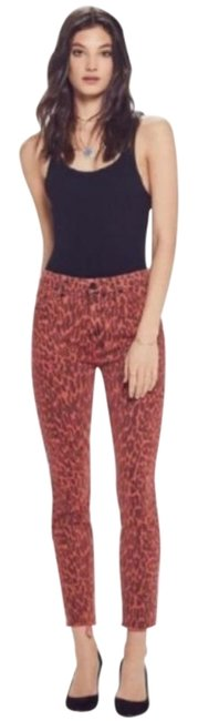 Item - Black Orange High Waisted Looker Ankle Fray Capri/Cropped Jeans Size 24 (0, XS)