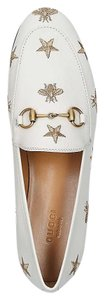 Gucci Princetown Jordaan Bee Loafer Loafer White Flats