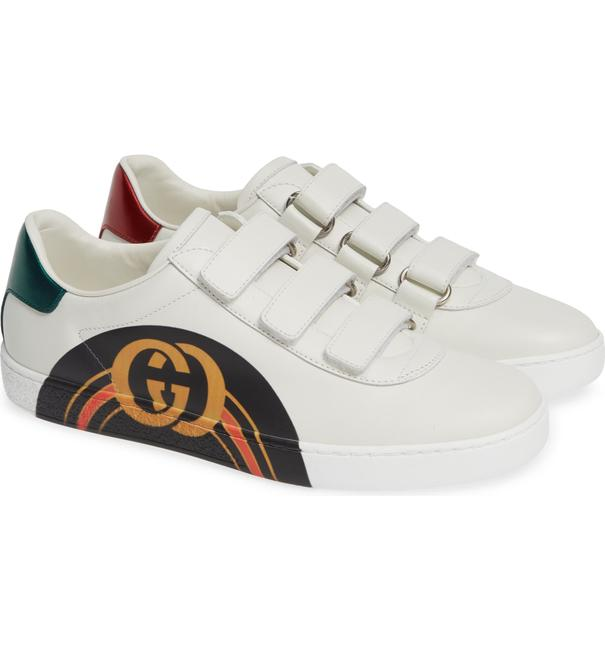 Item - White Green Red New Ace Velcro Leather Trainer Sneakers Size EU 38 (Approx. US 8) Regular (M, B)