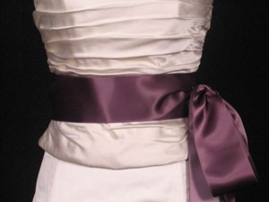 Light Plum Purple Ribbon Sash 2 3/4