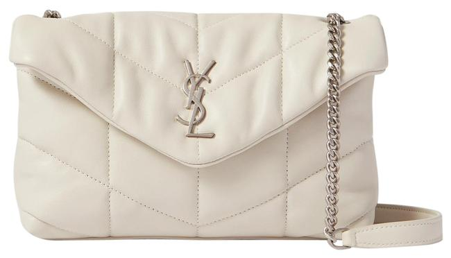 Item - Monogram Loulou Mini Puffer White Vintage Lambskin Leather Shoulder Bag