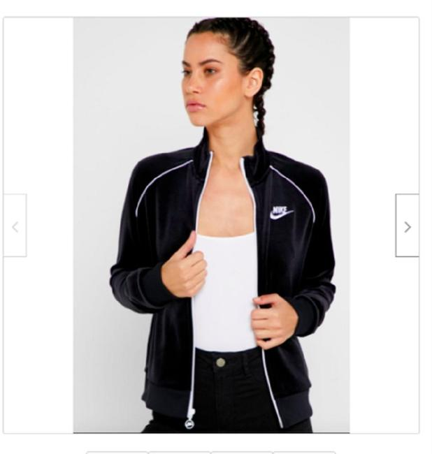 Item - Black/White Women's Sportswear/Athleisure Velour Activewear Outerwear Size 14 (L)
