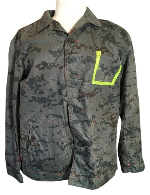 The People Of The Labyrinths Olive Green Camo Jacket Size 4 (S) The People Of The Labyrinths Olive Green Camo Jacket Size 4 (S) Image 1