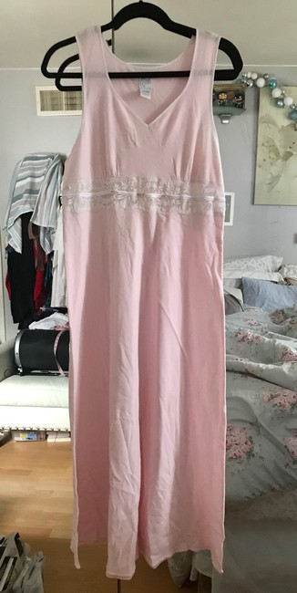 Aria Pink with White Lace Sleep Gown New Tags Aria Pink with White Lace Sleep Gown New Tags Image 1