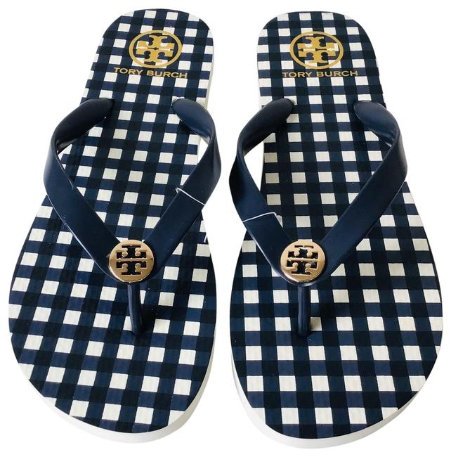 Item - Navy Flip Flops Check In Sandals Size US 11 Regular (M, B)