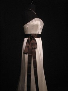 Chocolate Brown Ribbon Sash 2