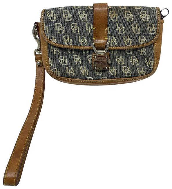 Item - All Over Gray/Brown Leather Wristlet