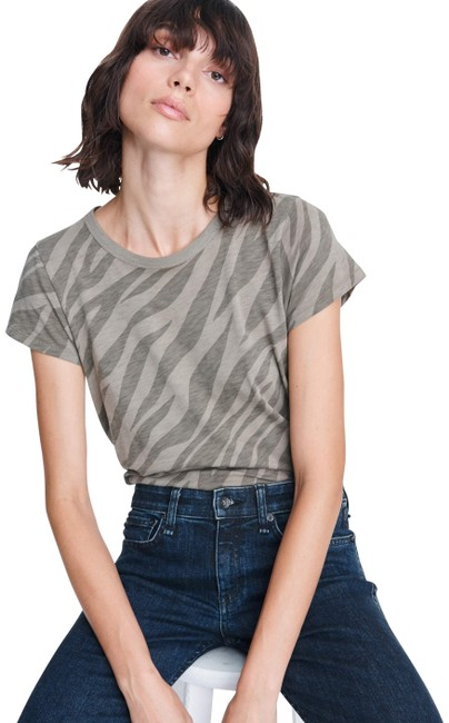 Item - Army Multi XS And Women's All Over Slub Zebra Tee Shirt Size 2 (XS)