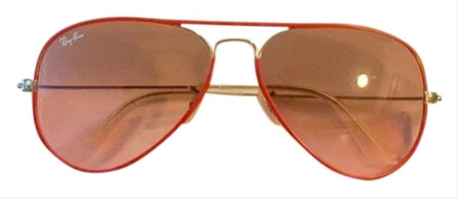 Item - Red Aviators Sunglasses