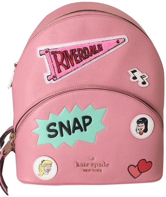 Item - Archie Comics Pink Multicolor Leather Backpack