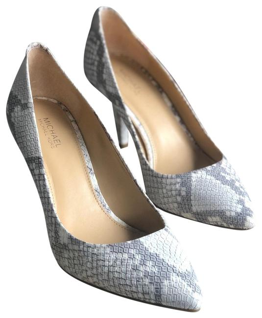 Michael Kors Collection Gray & White Pumps Size US 6.5 Regular (M, B) Michael Kors Collection Gray & White Pumps Size US 6.5 Regular (M, B) Image 1