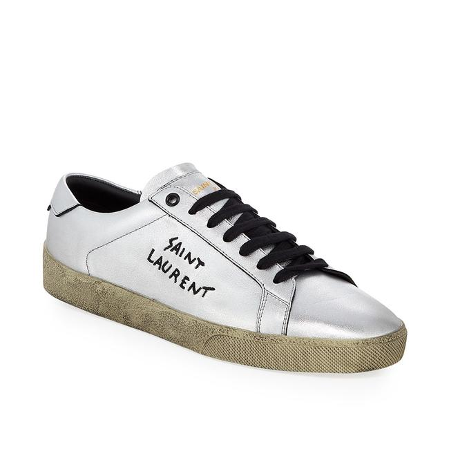 Item - Silver Women's Court Classic Low-top Logo Leather Sneakers Size EU 36 (Approx. US 6) Regular (M, B)