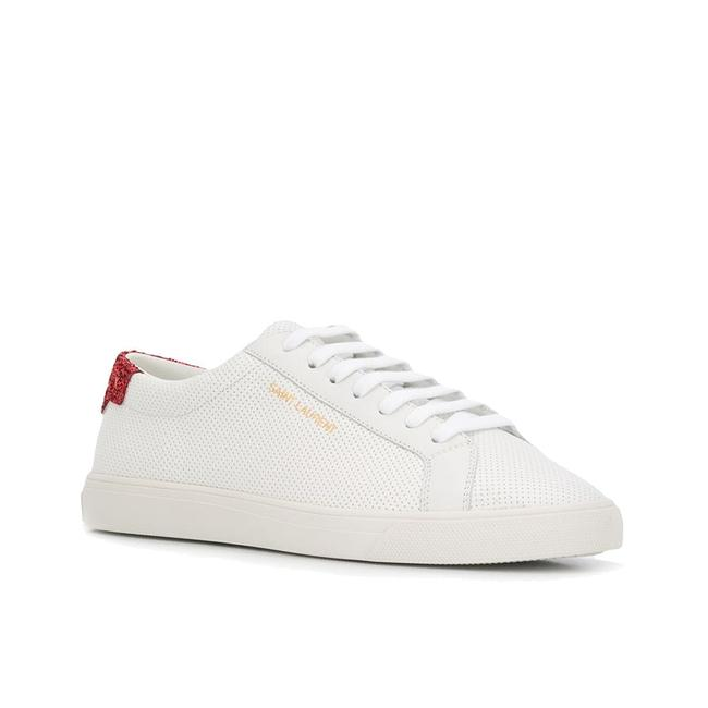 Saint Laurent White Women's Andy Low-top Sparkle Perforated Leather Sneakers Size EU 37.5 (Approx. US 7.5) Regular (M, B) Saint Laurent White Women's Andy Low-top Sparkle Perforated Leather Sneakers Size EU 37.5 (Approx. US 7.5) Regular (M, B) Image 1