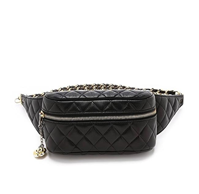 Chanel Waist Rare Lambskin Quilted Camellia Flower Charm Funny Pack Black Cross Body Bag Chanel Waist Rare Lambskin Quilted Camellia Flower Charm Funny Pack Black Cross Body Bag Image 1