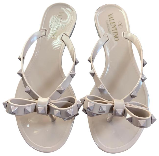 Item - Nude Jelly Rockstud Pvc Beige Sandals Size EU 36 (Approx. US 6) Regular (M, B)