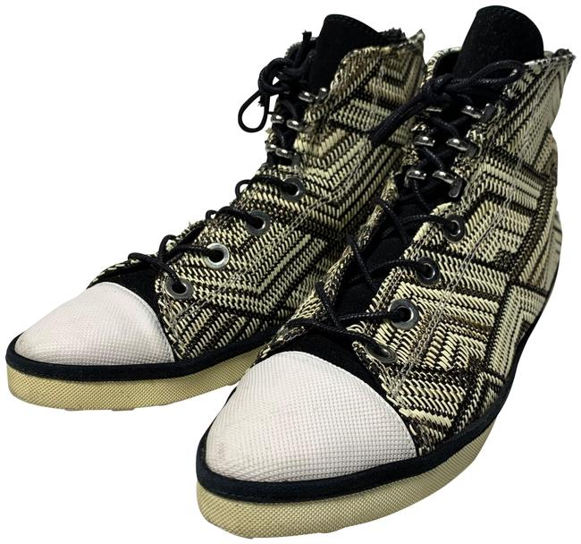 Item - Black and White 47 Sneakers Size US 6 Regular (M, B)