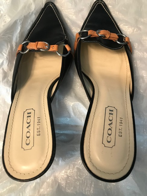Coach Navy Pointed Mules/Slides Size US 8.5 Regular (M, B) Coach Navy Pointed Mules/Slides Size US 8.5 Regular (M, B) Image 2