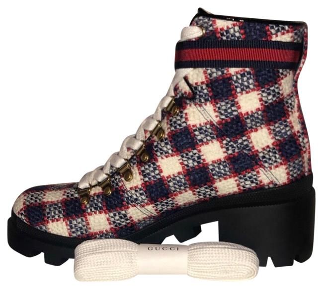 Item - Blue Red White Black Sylvie Boots/Booties Size EU 39.5 (Approx. US 9.5) Regular (M, B)