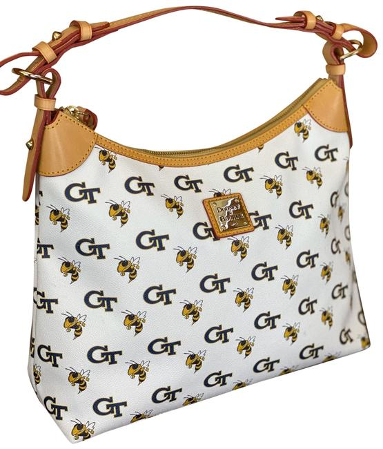 Item - Hobo Bag And Ga Tech University White Leather Tote