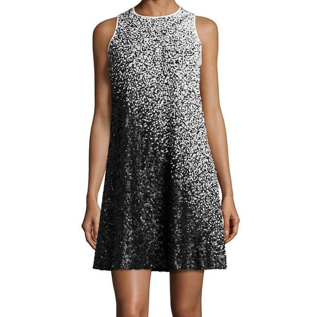 Item - Black & White Ombre Nwot Sleeveless Sequined Cocktail Short Night Out Dress Size 4 (S)