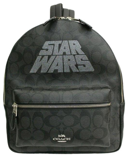 Item - Charlie Star Wars Black Smoke Silver Coated Canvas & Leather Backpack