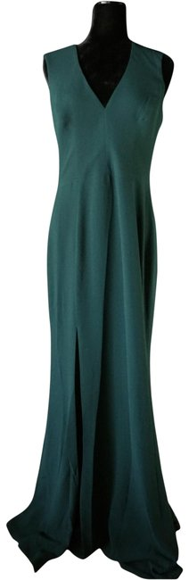 Item - Pine Green Sandra Crepe Plunging V-neck Gown Long Formal Dress Size 12 (L)