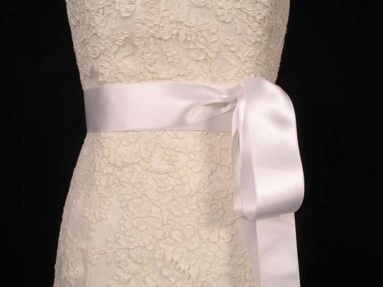 White White Ribbon Sash