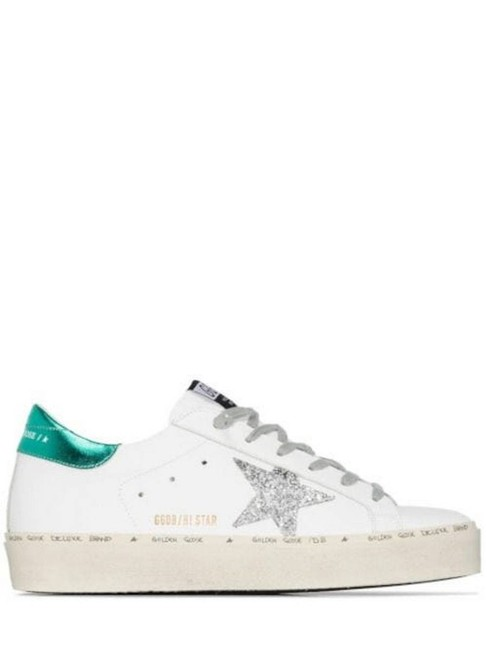 Item - White/Green Gr Hi Star Glittery Star and Laminated Rear Sneakers Size EU 40 (Approx. US 10) Regular (M, B)