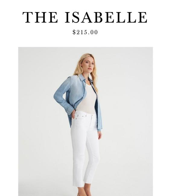 Item - Off White Distressed Isabelle Capri/Cropped Jeans Size 8 (M, 29, 30)