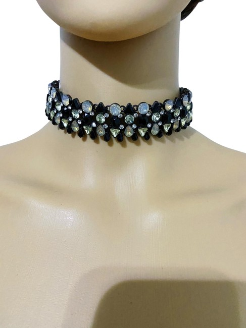 Item - Black and Silver Sparkling Choker Necklace