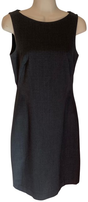 Item - Grey Wool Sheath/Shift Mid-length Work/Office Dress Size 6 (S)