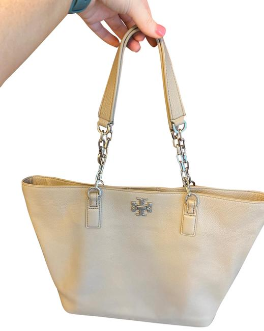 Item - Gray/Nude (Interior Is Gray/Nude.. Looks Purple From Pictures) Leather Tote
