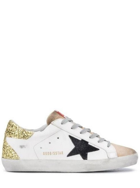 Item - White/Gold Gr Superstar Glittery Rear Sneakers Size EU 37 (Approx. US 7) Regular (M, B)