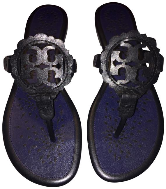 Item - Black/Navy Scallop Miller Sandals Size US 9.5 Regular (M, B)