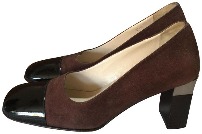 Item - Brown Black Silver Italy Pumps Size EU 35.5 (Approx. US 5.5) Regular (M, B)