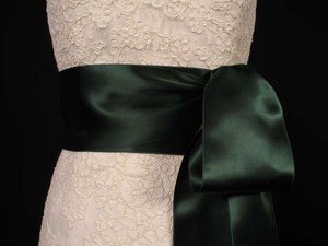 Hunter Green Ribbon Sash