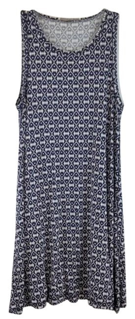 Item - Blue & White Tee Sleeveless Print Long Short Casual Dress Size 4 (S)
