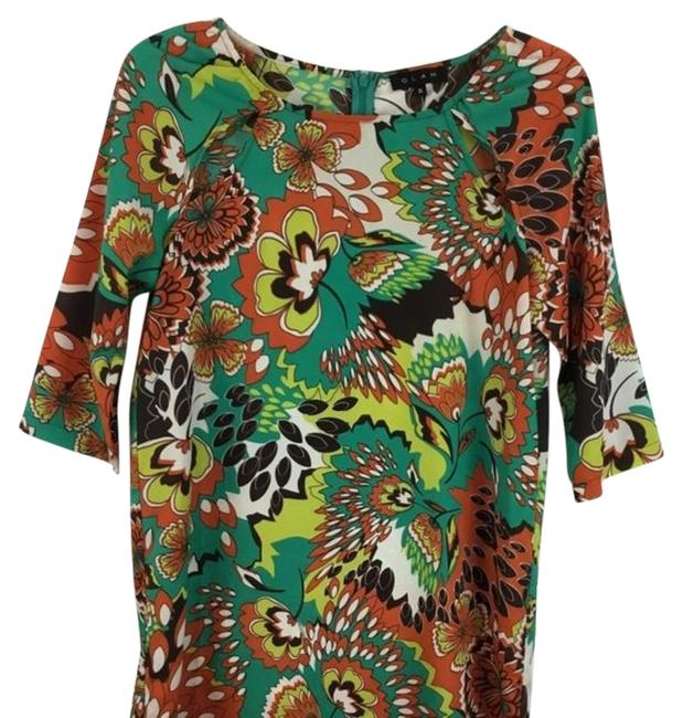 Item - Red & Green Floral Print Sleeves Long Casual Maxi Dress Size 4 (S)