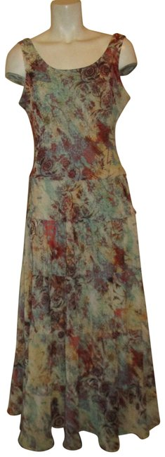 Item - Multicolor Color Print Sleeveless Long Casual Maxi Dress Size 4 (S)