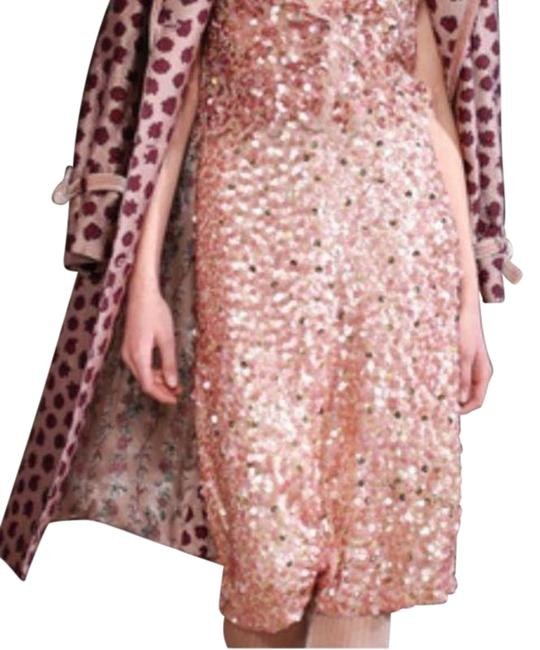 Luisa Beccaria Pink Womens Georgette Sequins Skirt Size 6 (S, 28) Luisa Beccaria Pink Womens Georgette Sequins Skirt Size 6 (S, 28) Image 1
