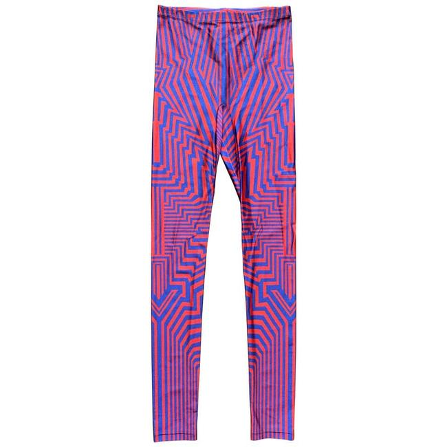 Item - Red and Blue 2010 Geometric Print Leggings Size 4 (S, 27)