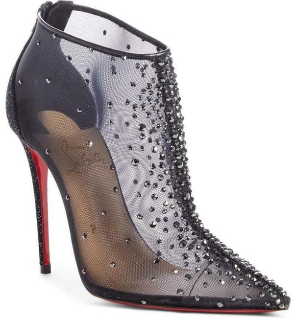 Christian Louboutin Black Constella 100 Crystal Strass Mesh Heels Boots/Booties Size EU 39 (Approx. US 9) Regular (M, B) Christian Louboutin Black Constella 100 Crystal Strass Mesh Heels Boots/Booties Size EU 39 (Approx. US 9) Regular (M, B) Image 1