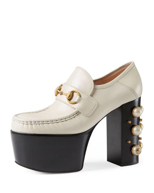 Item - White Vegas Studded Platforms Size EU 39 (Approx. US 9) Regular (M, B)