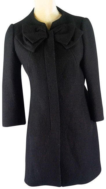 Item - Elevenses Wool Blend Bow Coat Size 4 (S)