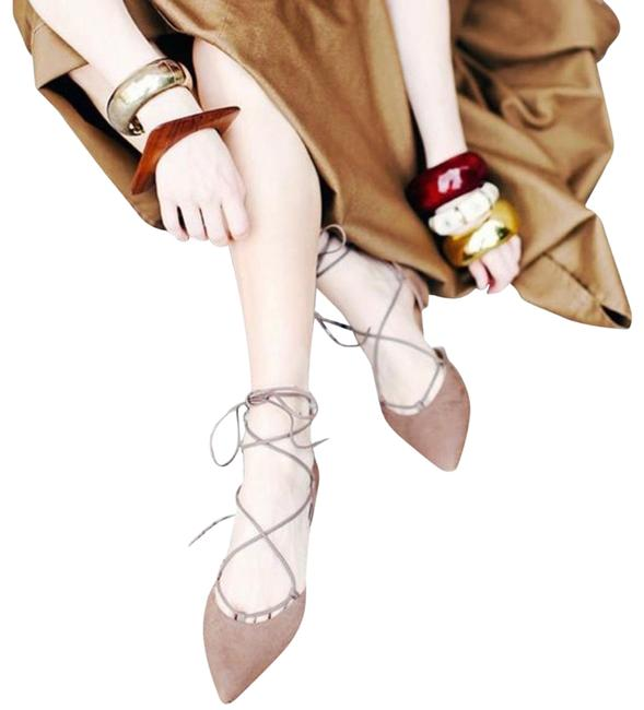 Item - Tan Gilligan Gladiator Ankle Suede Flats Size US 8 Narrow (Aa, N)