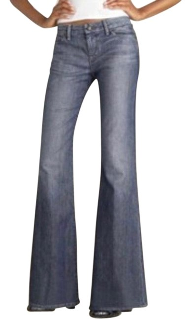 Item - Blue Medium Wash 'muse' Mid Rise Stretch Trouser/Wide Leg Jeans Size 2 (XS, 26)