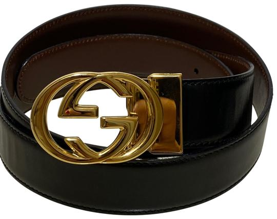 Preload https://img-static.tradesy.com/item/27631604/gucci-black-brown-leather-gg-buckle-men-s-women-s-size-9538-belt-0-1-540-540.jpg